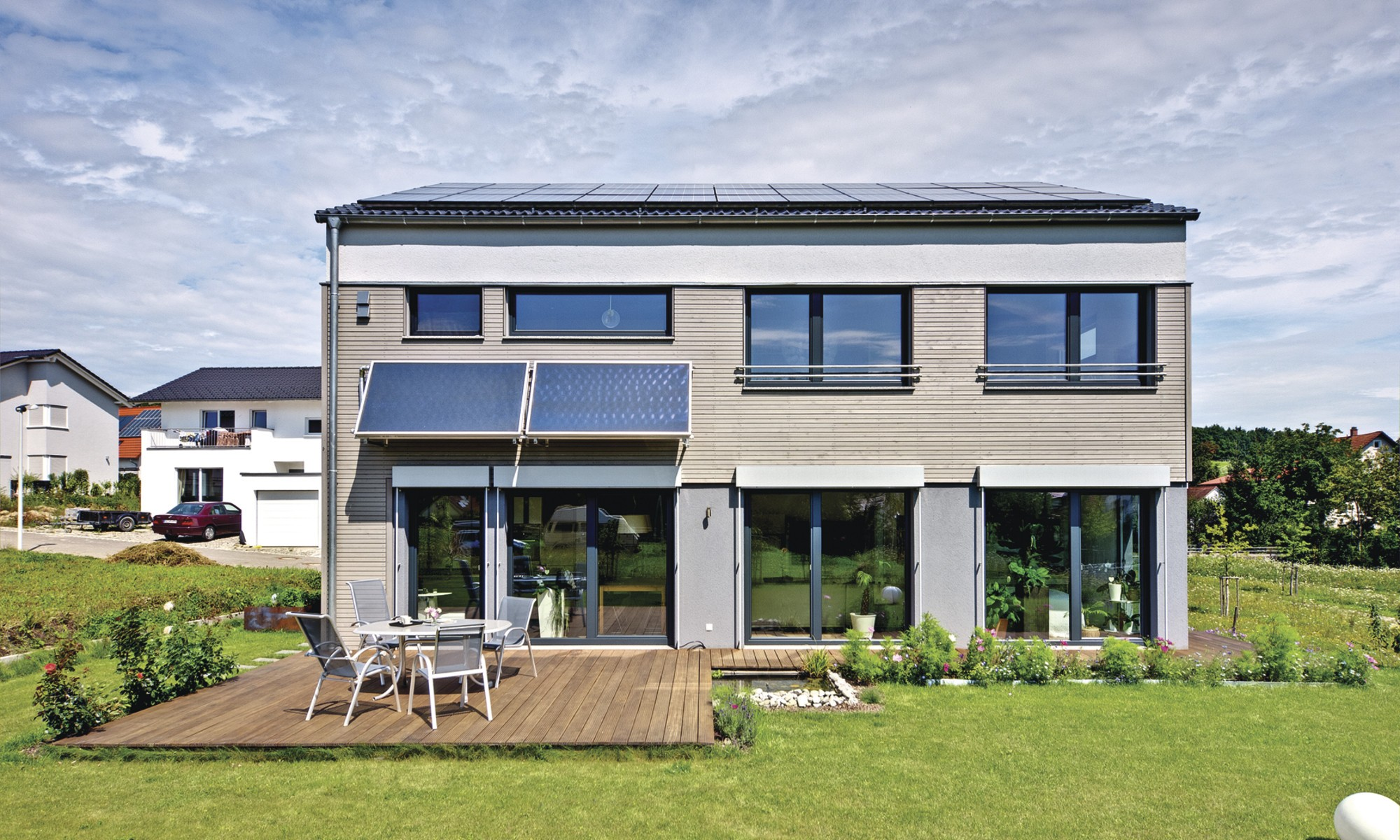 Modern eco-friendly self-build home