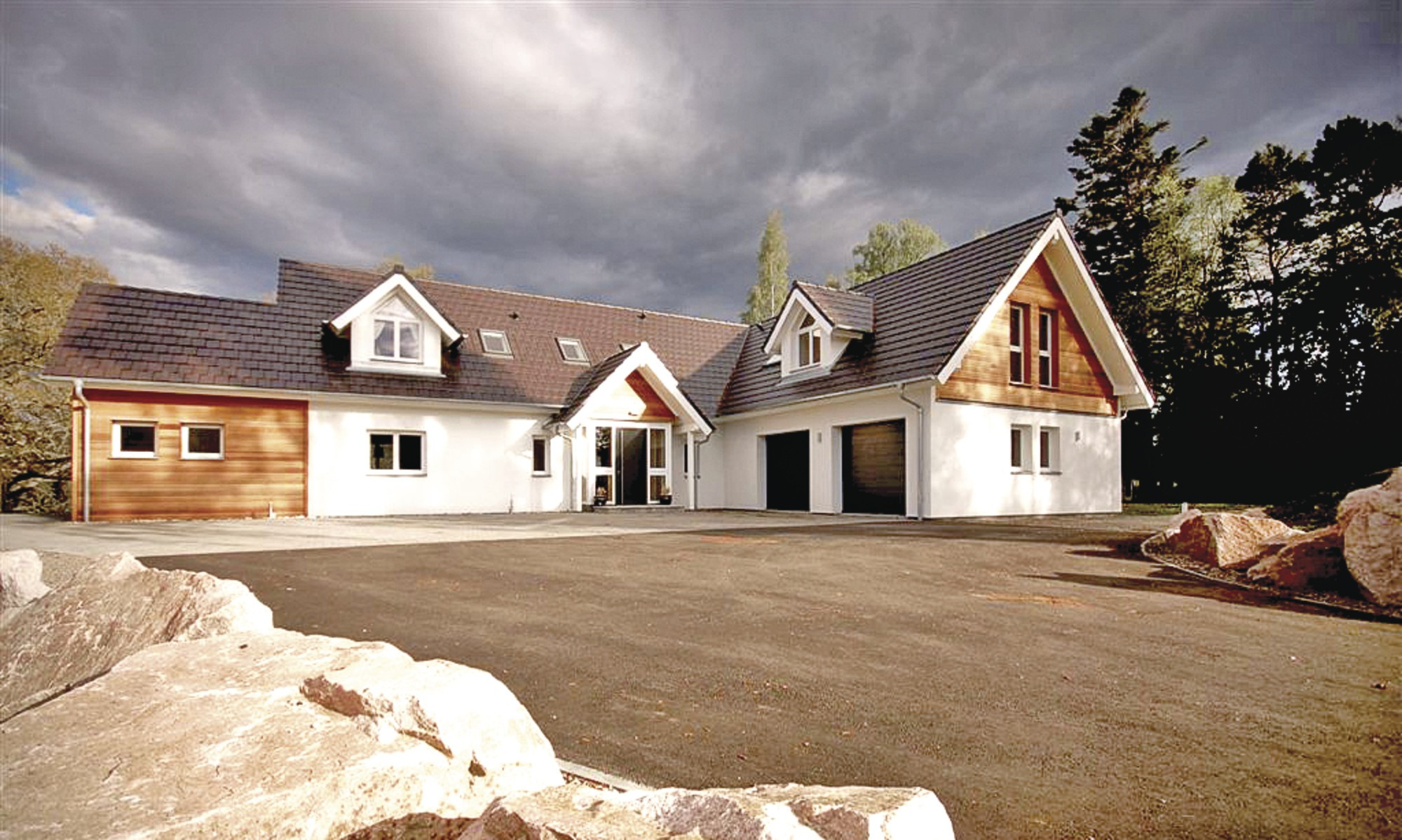 Timber frame prefab home in Scotland