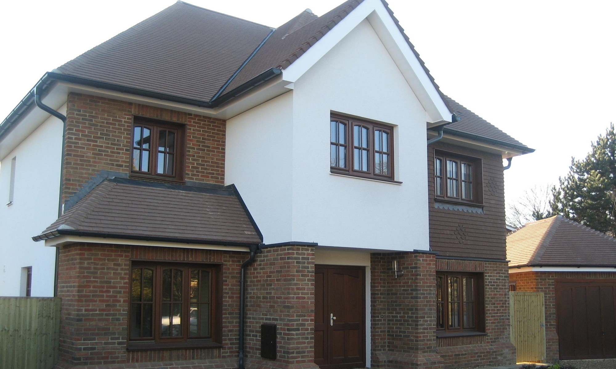 Four-storey prefab home in traditional style, with basement cinema room, in Buckinghamshire