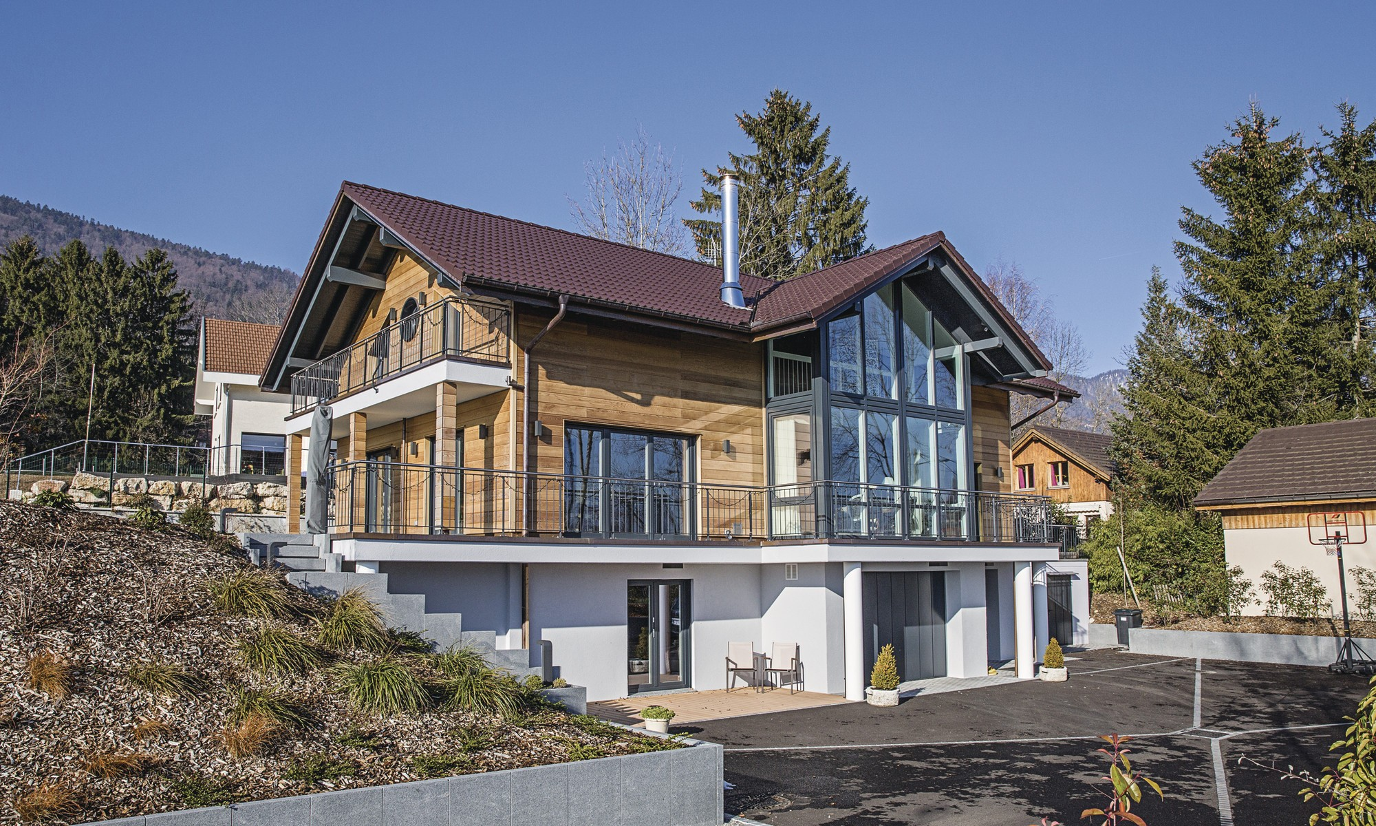 Wooden eco friendly prefabricated home