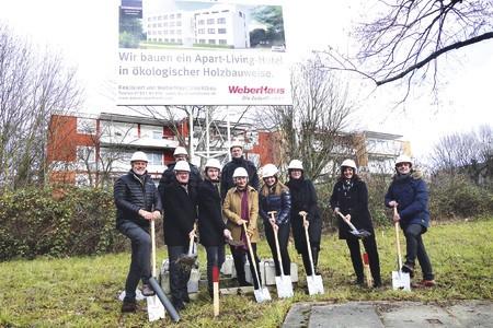 Spatenstich für Adoro Aparthotel in Bühl