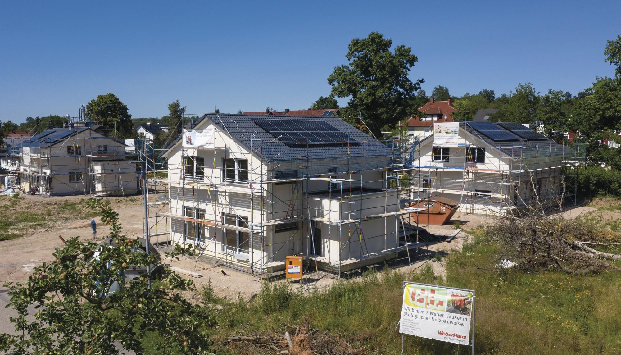 Sieben neue Einfamilienhäuser in Ebersweier