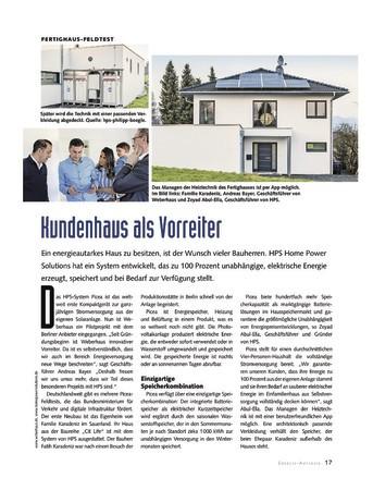 bauen Ausgabe 12/ 1 2019 - Beileger Energie Autarkie
